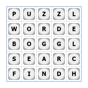 Boggle - online word search game
